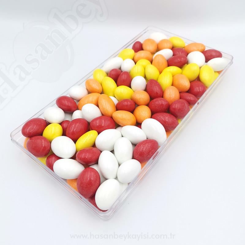 Renkli Çikolata Kaplı Kayısı Çekirdeği Draje 500 Gr